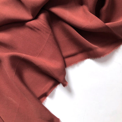 Auburn Red Tencel Twill