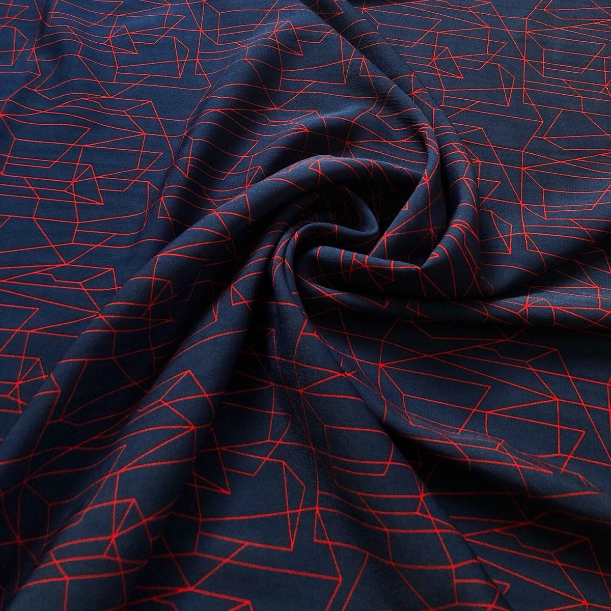 Colorado Red/Navy Print Faille