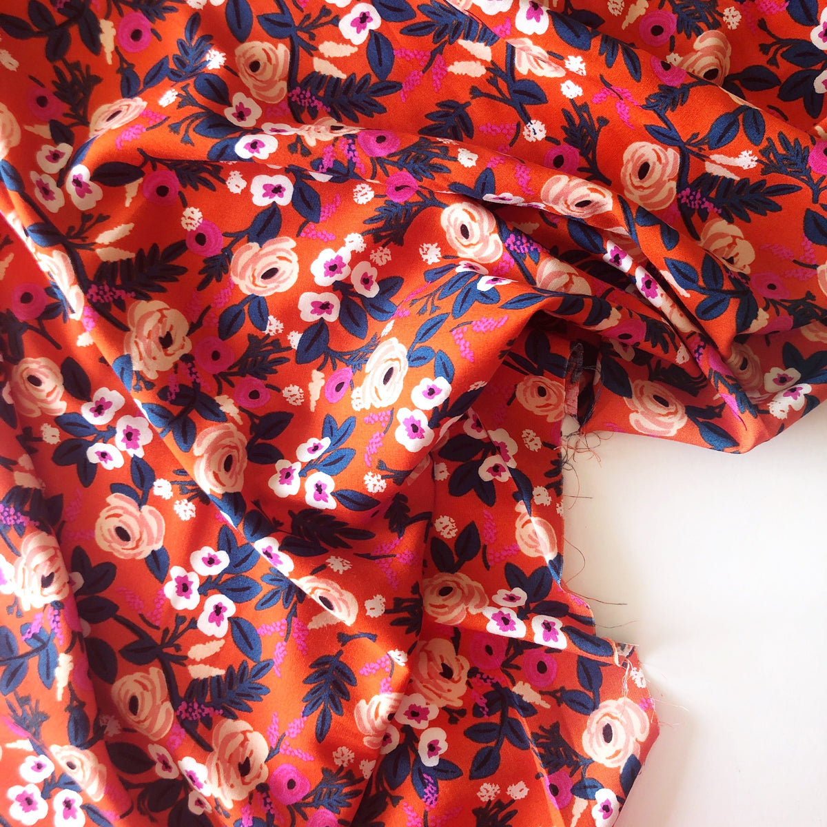 Painted Roses Rayon Lawn