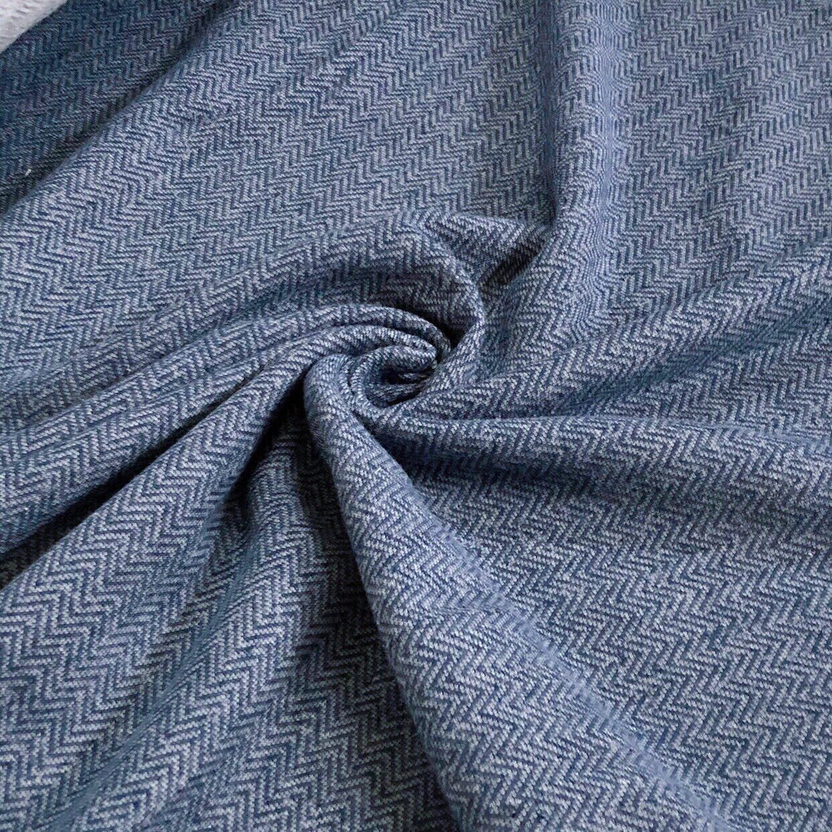 Indigo Herringbone French Terry