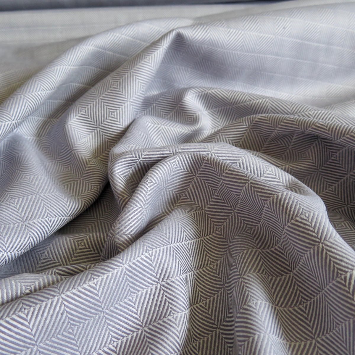 Gray Optical Print Lightweight Cotton Twill Fabric by the Yard
