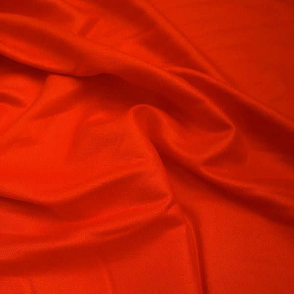 Fiery Red Viscose Flannel Fabric