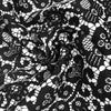 Black and White Lace Printed Stretch Cotton Fabric by the Yard