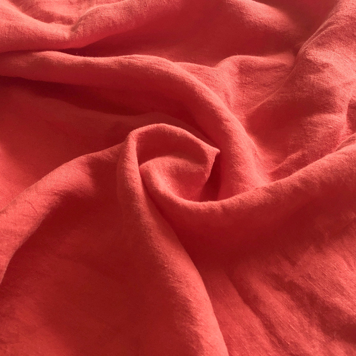 Persimmon Washed Linen