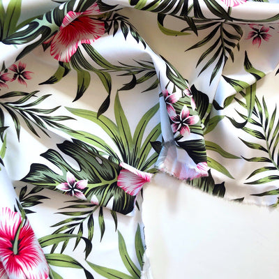 Tropical Print Cotton Sateen