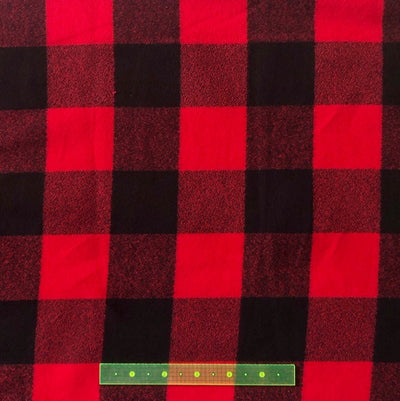 Red and Black Buffalo Check Flannel