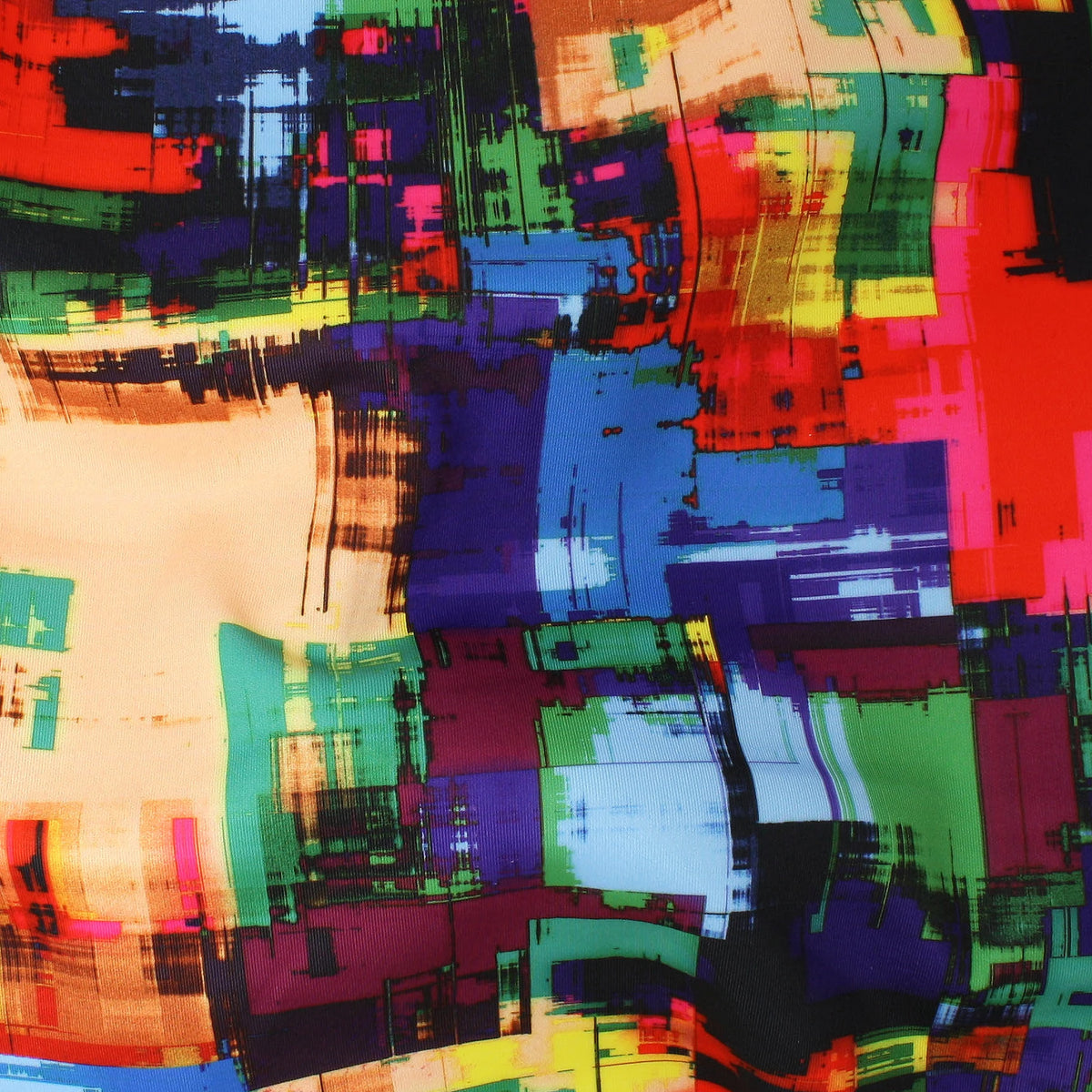 Abstract Expressionist Print Scuba