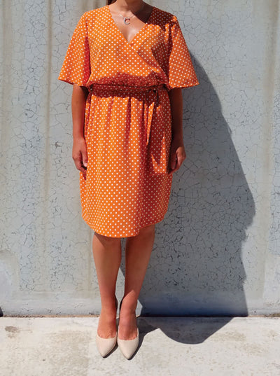 Stay Home & Sew: Bonita Wrap Dress (Curvy Sizing)