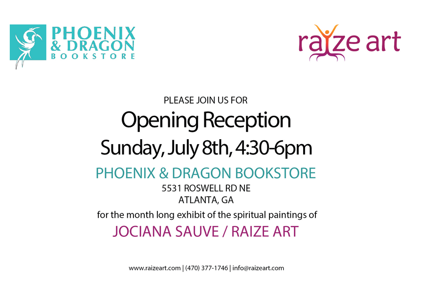 Art Opening July 8th - Jociana Sauve @ Phoenix & Dragon Bookstore!