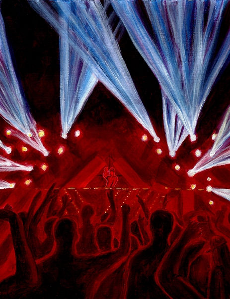 NEW PRODUCT - EDM Festival Painting on Tapestry