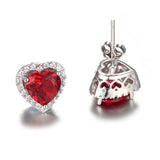 Red Ruby Stud Earring