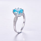 Blue Topaz Gem Stone Ring