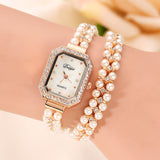 Pearls Bracelet Watch