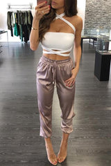 Satin Casual Loose Pant
