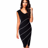 Casual Sleeveless Bodycon Pencil Dress