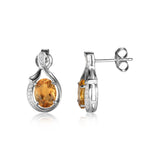 Yellow Genuine Citrine Stud Earrings
