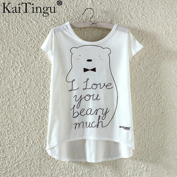 Cute Cat Printed T Shirt