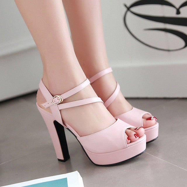 Strappy Heels Platform Shoes