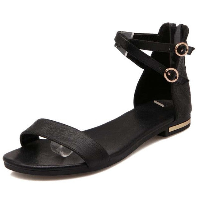 New Flat Leather Sandals