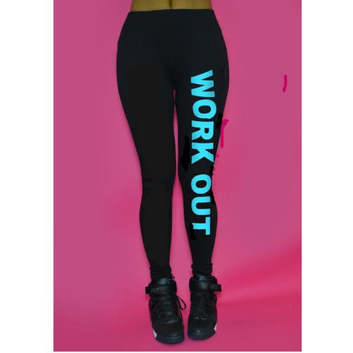 Work Out Printed Active Legging