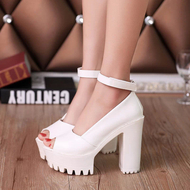 Platform High Heels Pumps