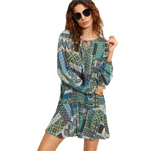 Vintage Patchwork Print Tunic