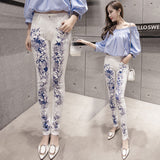 Elastic Stylish Printed Jean