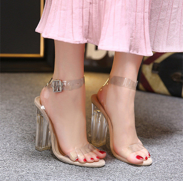 Transparent PVC High Heels Shoes