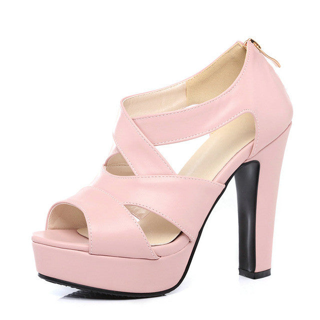 Peep Toe Summer Pumps