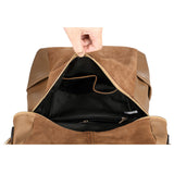 vintage PU leather large capacity bag
