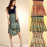Vintage Floral Print Chiffon Dress