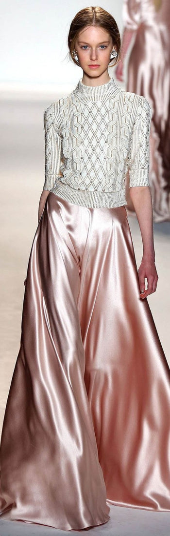 Satin Flare Maxi Wide Leg Pants