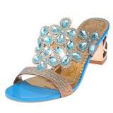 Rhinestone Cut-outs Sandals