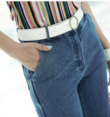 Folk Style Slim Stretch Pants