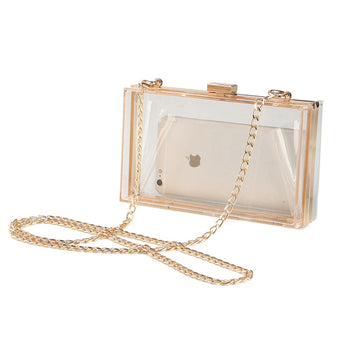 Acrylic Transparent Clutch Chain Box Bag