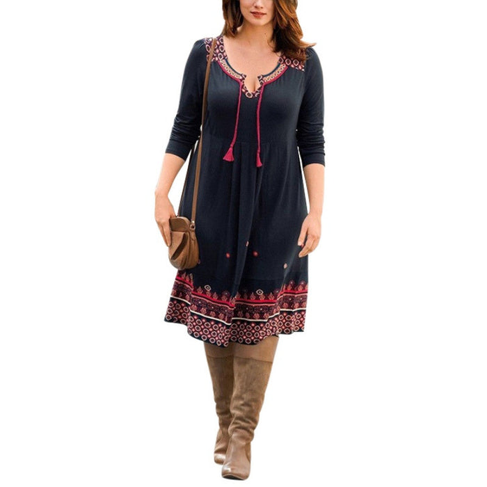 Tribal Print Plus Size Dress