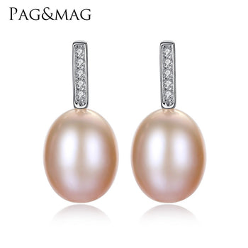 925 silver jewelry Pearl Earrings