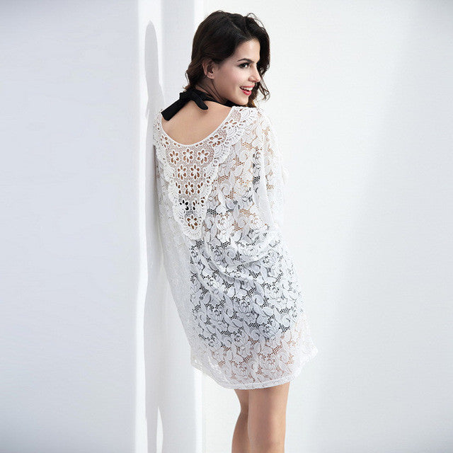 Loose V-neck Lace Light Dress