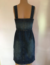 vintage bodycon denim dress