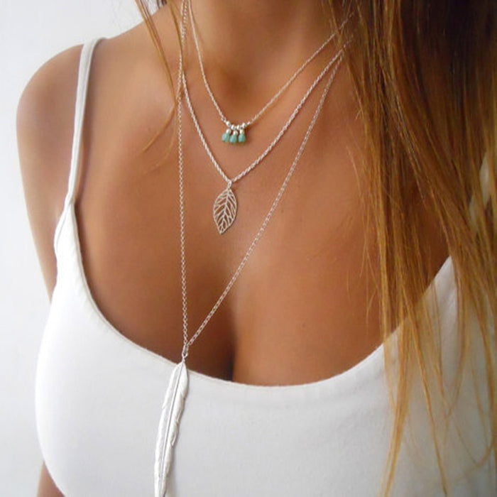 Fashion 3 Layers Necklace
