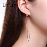 New 925 Sterling Silver Long Earring