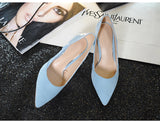 LeatherMix Color Pointed Toe Pumps