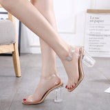 Transparent Buckle Strap Sandals