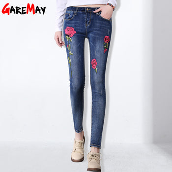 Stretch Flower Embroidered Jean