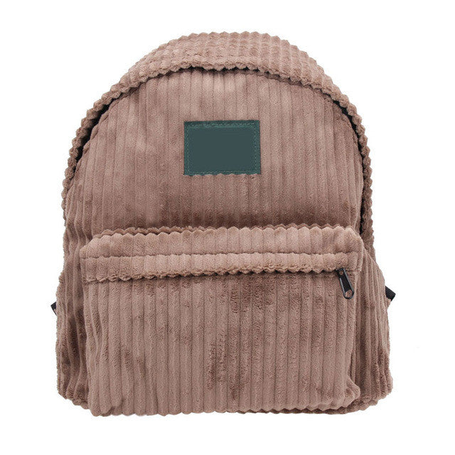 Corduroy Stripe  Backpack