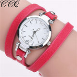 CCQ Leather Bracelet Watch