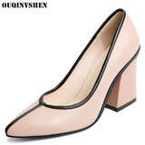 Genuine Leather High Heels Pumps