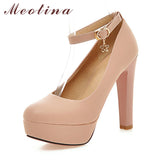 Platform Ankle Strap Bridal Pumps