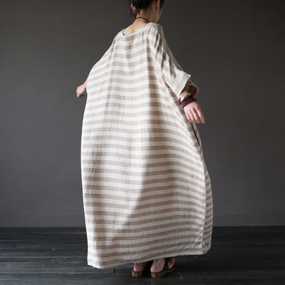 Vintage Batwing Sleeve Loose Dress