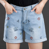 Summer Short Embroidery Jean